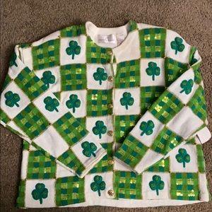 Irish button up sweater